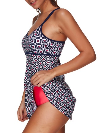 Elegant Colorful Chinlon Spandex One-piece Swimsuit
