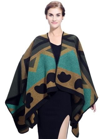 Geometric Print Oversized/Shawls/attractive Acrylic/Artificial Wool Square scarf