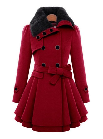 Blends Long Sleeves Plain Slim Fit Coats Coats