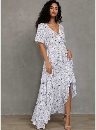 Acetate Fiber With PolkaDot Maxi Dress