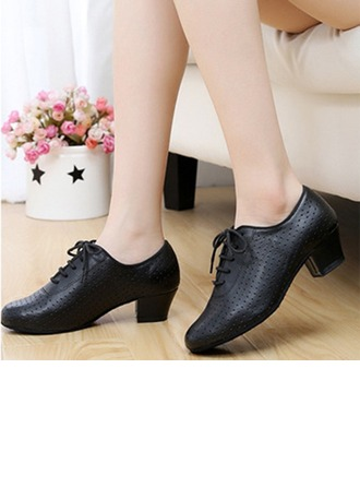Women's Real Leather Flats Sneakers Latin Jazz Practice Party Tango Dance Shoes