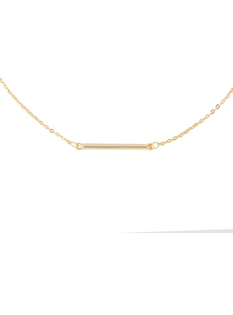 Silver Bar Bar Necklace For Women For Girl