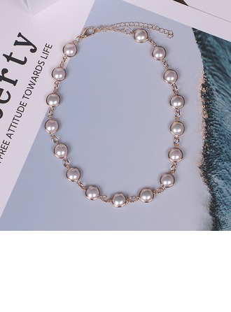 Unique Alloy With Imitation Pearl Women's Fashion Necklace
