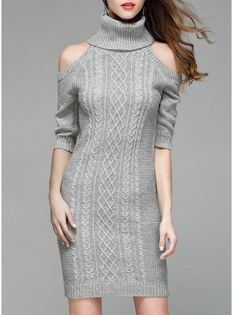 Knitting Knee Length Dress