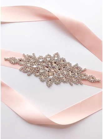 Exquisite Satin Sash With Rhinestones