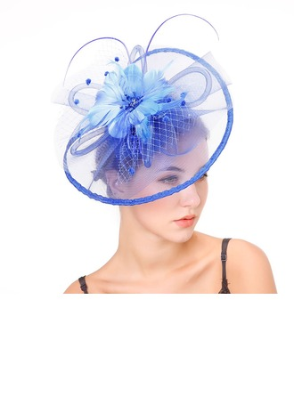 Ladies' Fashion/Special/Classic/Elegant/Unique/Simple Net Yarn With Feather Fascinators/Kentucky Derby Hats