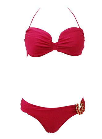 Beautiful Solid Color Bikini