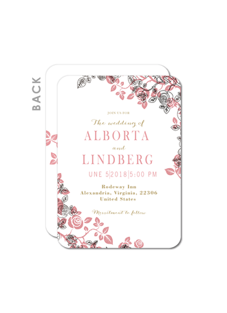 Vintage Style/Whimsical Style Flat Card Invitation Cards