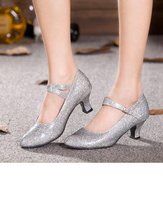Women's Sparkling Glitter Pumps Ballroom Dance Shoes