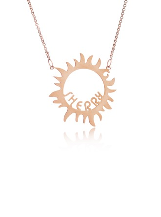 Custom 18k Rose Gold Plated Silver Sun Name Necklace