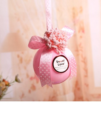 """""""Sweet Love"""" Ball Favor Boxes With Ribbons"""