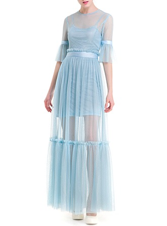 Lace/Tulle With Two Pieces Maxi Dress