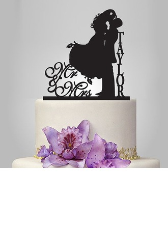 """Personalized """"Mr. & Mrs.""""/Happy Couple Acrylic Cake Topper"""