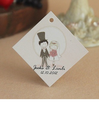 Personalized Bride And Groom Hard Card Paper Tags