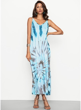 Polyester/Cotton With Print Maxi Dress