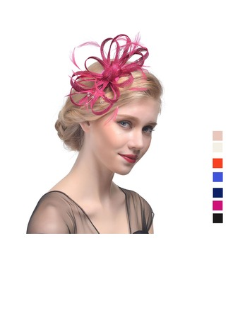 Ladies' Beautiful Cambric With Feather Fascinators/Tea Party Hats