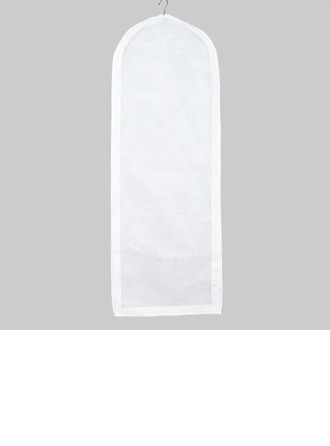 White Elegant Breathable Gown Length Garment Bags