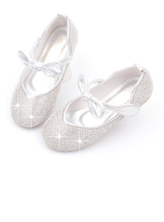 Girl's Round Toe Closed Toe Leatherette Flower Girl Shoes With Bowknot