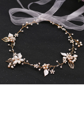 Ladies Beautiful Rhinestone/Alloy/Freshwater Pearl Headbands With Rhinestone/Pearl (Sold in single piece)