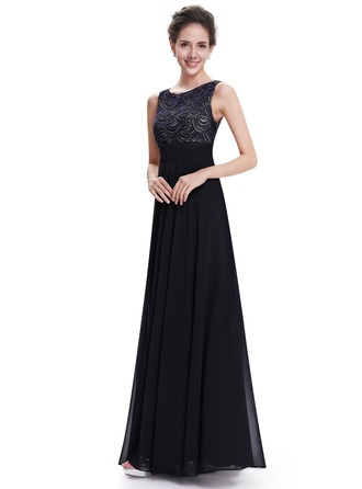 Polyester/Satin/Silk Blend With Beaded/Spliced Maxi Dress