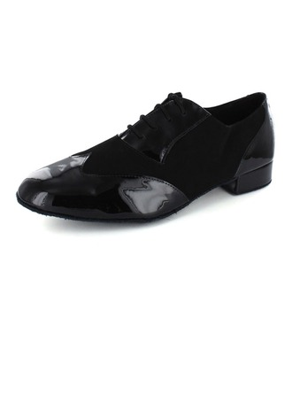 Men's Patent Leather Latin Modern Ballroom Party Dance Shoes