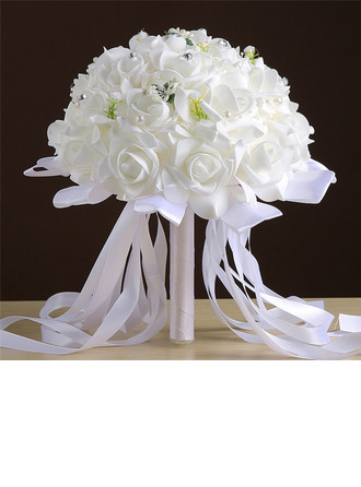Classic Hand-tied Foam Bridal Bouquets/Bridesmaid Bouquets (Sold in a single piece) - Bridal Bouquets/Bridesmaid Bouquets