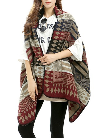 Plaid Oversized/Sjaler Ponchos