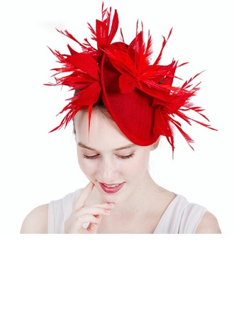 Ladies' Gorgeous/Glamourous Cambric With Feather Fascinators/Kentucky Derby Hats