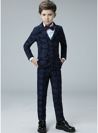 Boys 4 Pieces Argyle Ring Bearer Suits /Page Boy Suits With Jacket Shirt Pants Bow Tie