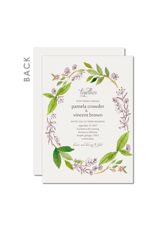 Whimsical Style/Rustic Style Flat Card Invitation Cards