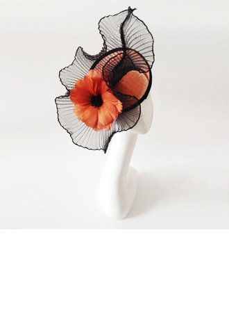 Dames Magnifique Feather/Fil net avec Feather Chapeaux de type fascinator