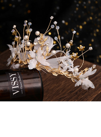 Ladies Beautiful Rhinestone/Alloy/Feather Tiaras With Rhinestone (Sold in single piece)