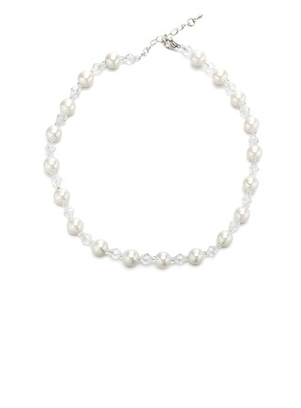 Exquisite Imitation Pearls Crystal With Imitation Pearl Imitation Crystal Women's Fashion Necklace (Sold in a single piece)