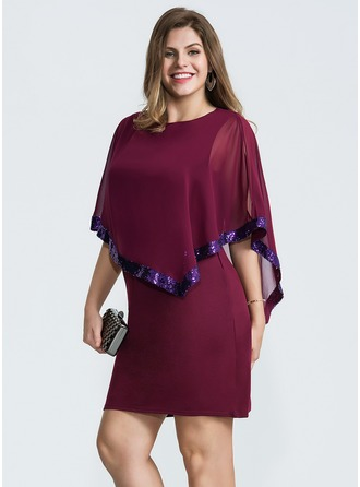 Chiffon Above Knee Dress