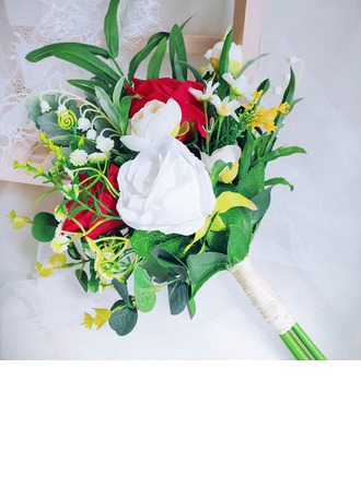 Classic Hand-tied Satin/Ribbon/Artificial Flower Bridal Bouquets/Bridesmaid Bouquets (Sold in a single piece) - Bridal Bouquets/Bridesmaid Bouquets