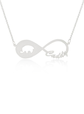 [Free Shipping]Custom Sterling Silver Infinity Animal Name Necklace Infinity Name Necklace