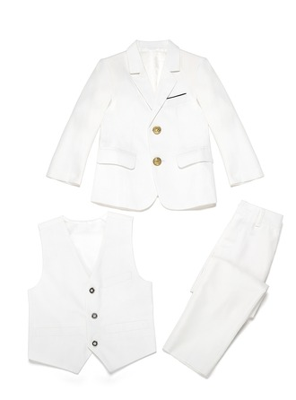 Boys 3 Pieces Elegant Ring Bearer Suits /Page Boy Suits With Jacket Vest Pants
