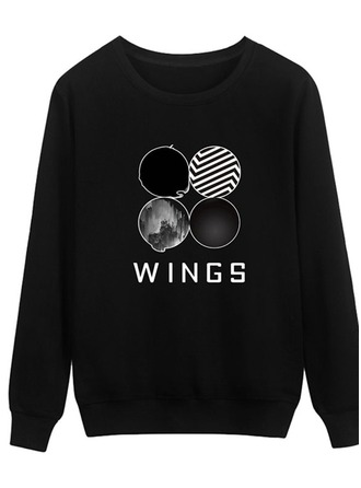 Print Cotton Sweatshirt Sweatshirts