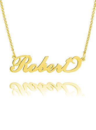 Custom 18k Gold Plated Carrie Name Necklace - Birthday Gifts Mother's Day Gifts