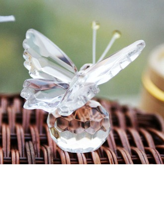 Butterfly Crystal Keepsake With Ribbons