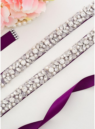 Nice Satin Sash With Rhinestones