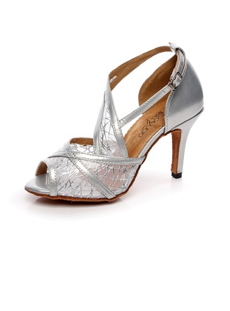 Women's Leatherette Sandals Latin With Lace-up Dance Shoes