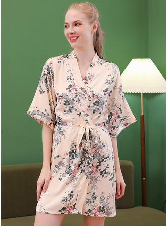 Non-personalized Polyester Floral Robes