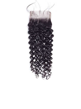 4A Non remy Kinky Curly Human Hair Closure (Sold in a single piece) 35g