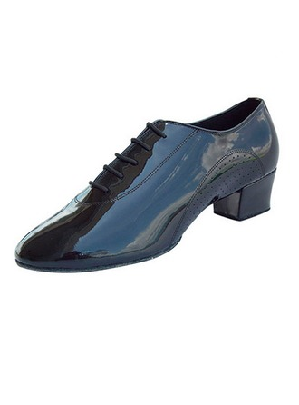 Men's Real Leather Heels Modern Dance Shoes