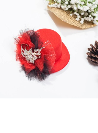 Ladies' Nice Spring/Autumn/Winter Wool With Tulle Fascinators