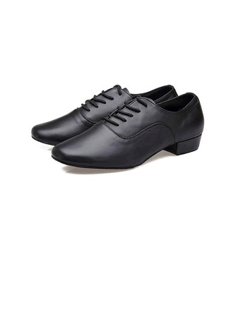 Men's Real Leather Pumps Latin Ballroom Practice Dance Shoes