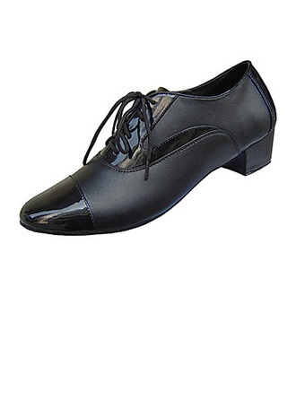 Men's Real Leather Heels Latin Modern Ballroom Practice Dance Shoes