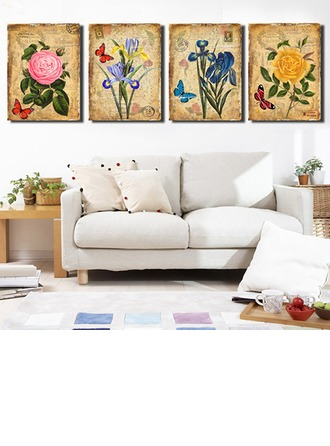 Classic Horizontal Floral Paintings