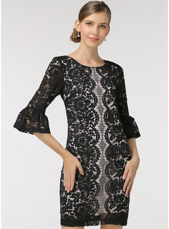 Polyester With Stitching Dress